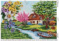 Схема для вышивки бисером Времена года. Весна