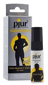 Пролонгирующий спрей pjur Superhero Spray 20 мл, впитывается в кожу, натуральные компоненты Bomba💣