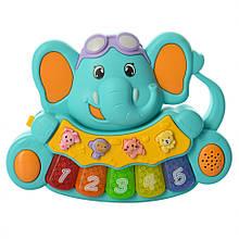 Дитяче іграшкове піаніно 855-28A, 3 режими (Бірюзовий)