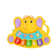 Дитяче іграшкове піаніно 855-28A, 3 режими (Жовтий)