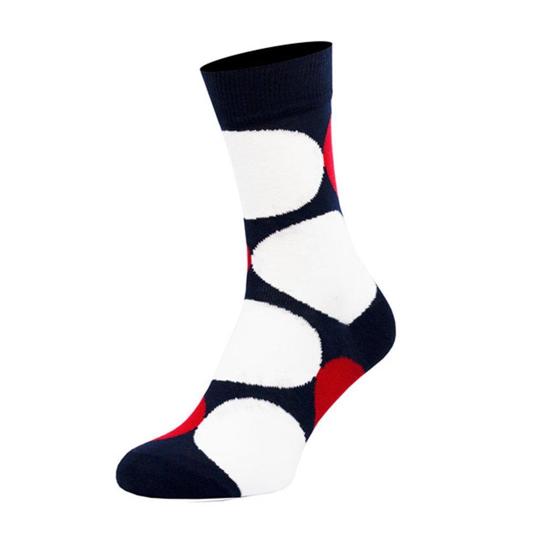 Шкарпетки чоловічі кольорові з бавовни, білі кулі