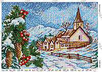 Схема для вышивки бисером Времена года. Зима