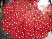 Подставка3-х ярусная картон.красный горошек(код 01888)