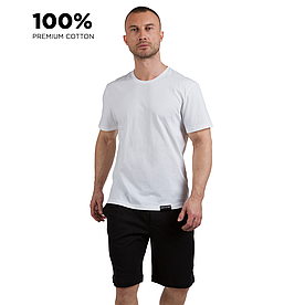 Футболка мужская, 100% хлопок premium, белый