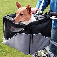 Сумка на велосипед для перевозки собак до 8кг /передняя