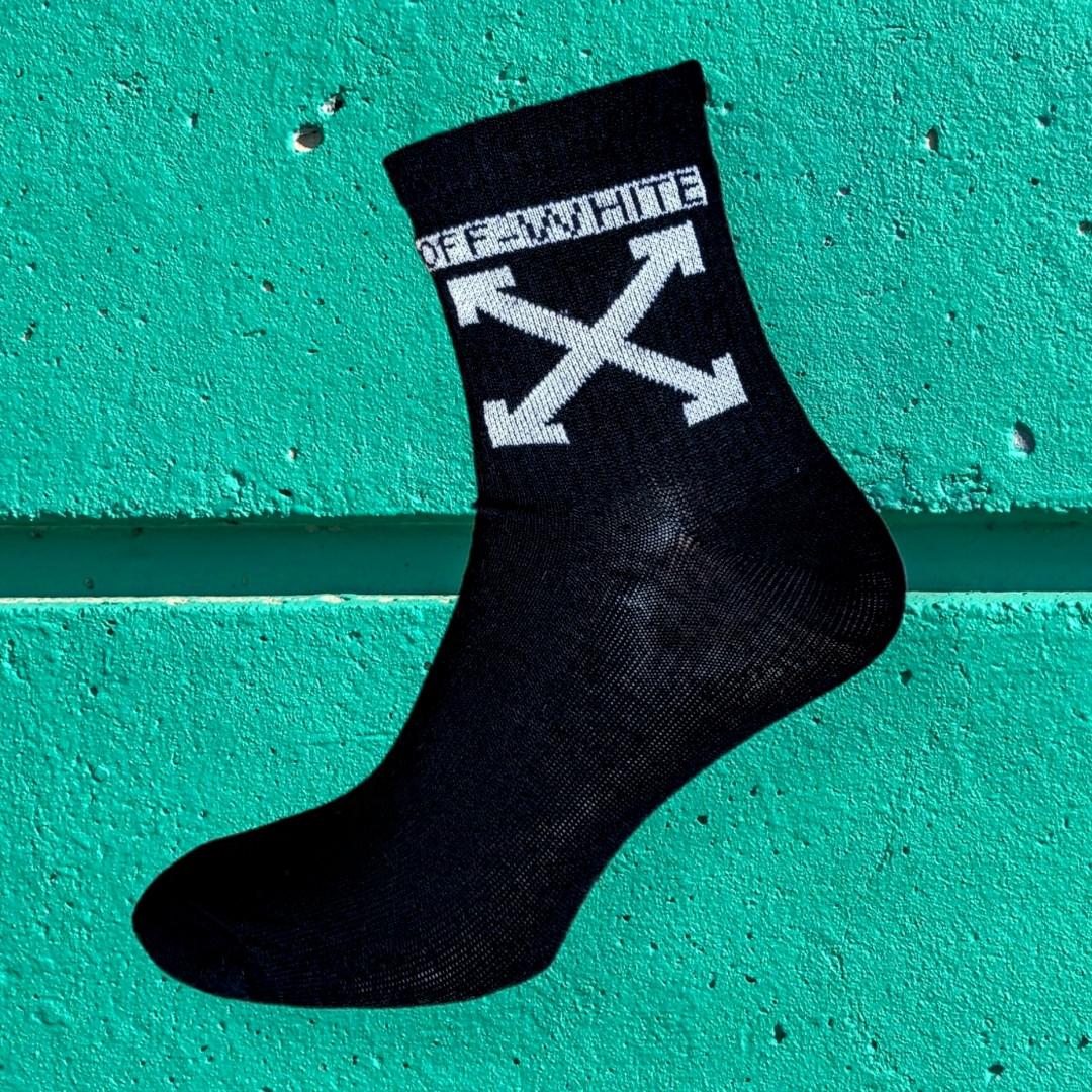 Носки off white черные размер 36-44