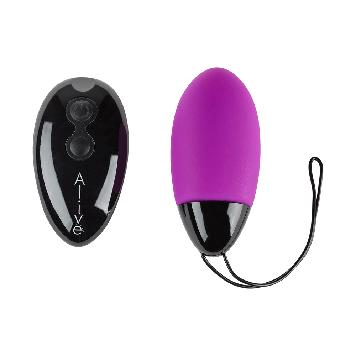 Мощное виброяйцо Alive Magic Egg MAX Violet с пультом ДУ, мощное Bomba💣