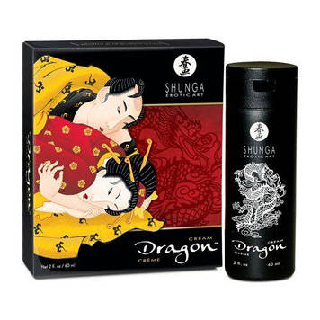 Стимулирующий крем для пар Shunga SHUNGA Dragon Cream (60 мл), эффект тепло-холод и покалывание Bomba💣