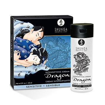 Стимулирующий крем для пар Shunga SHUNGA Dragon Cream SENSITIVE (60 мл) более нежный эффект Bomba💣