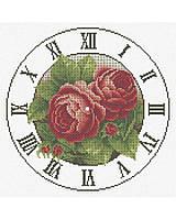 """Схема для часткової вишивки бісером ЧАСЫ """"РОМАНТИЧЕСКИЕ РОЗЫ"""" А3-К-149"""