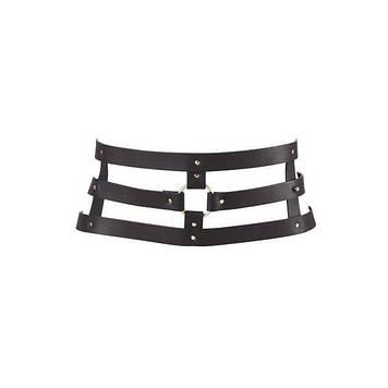 Портупея-пояс Bijoux Indiscrets MAZE - Wide Belt and Restraints Black, экокожа Bomba💣