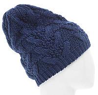 Женская вязаная шапка в стиле ручной работы, объемной крупной вязки косами.