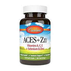 Комплекс витаминов Carlson Labs ACES Vitamins A,C,E + Selenium & Zinc 60 капсул