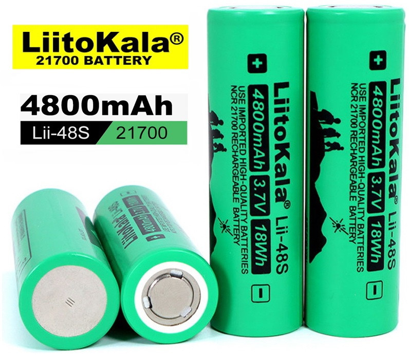Оригинальный Аккумулятор LIITOKALA Lii-48S 21700 4800mAh 10A Li-Ion без эффекта памяти 1000 циклов