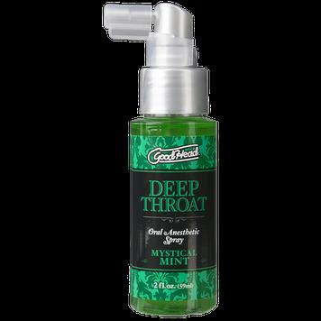 Спрей для минета Doc Johnson GoodHead DeepThroat Spray – Mystical Mint 59 мл для глубокого минета Bomba💣