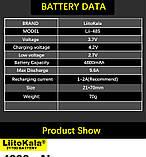 Оригинальный Аккумулятор LIITOKALA Lii-48S 21700 4800mAh 10A Li-Ion без эффекта памяти 1000 циклов, фото 6