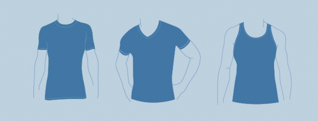 6 типов декольте футболок