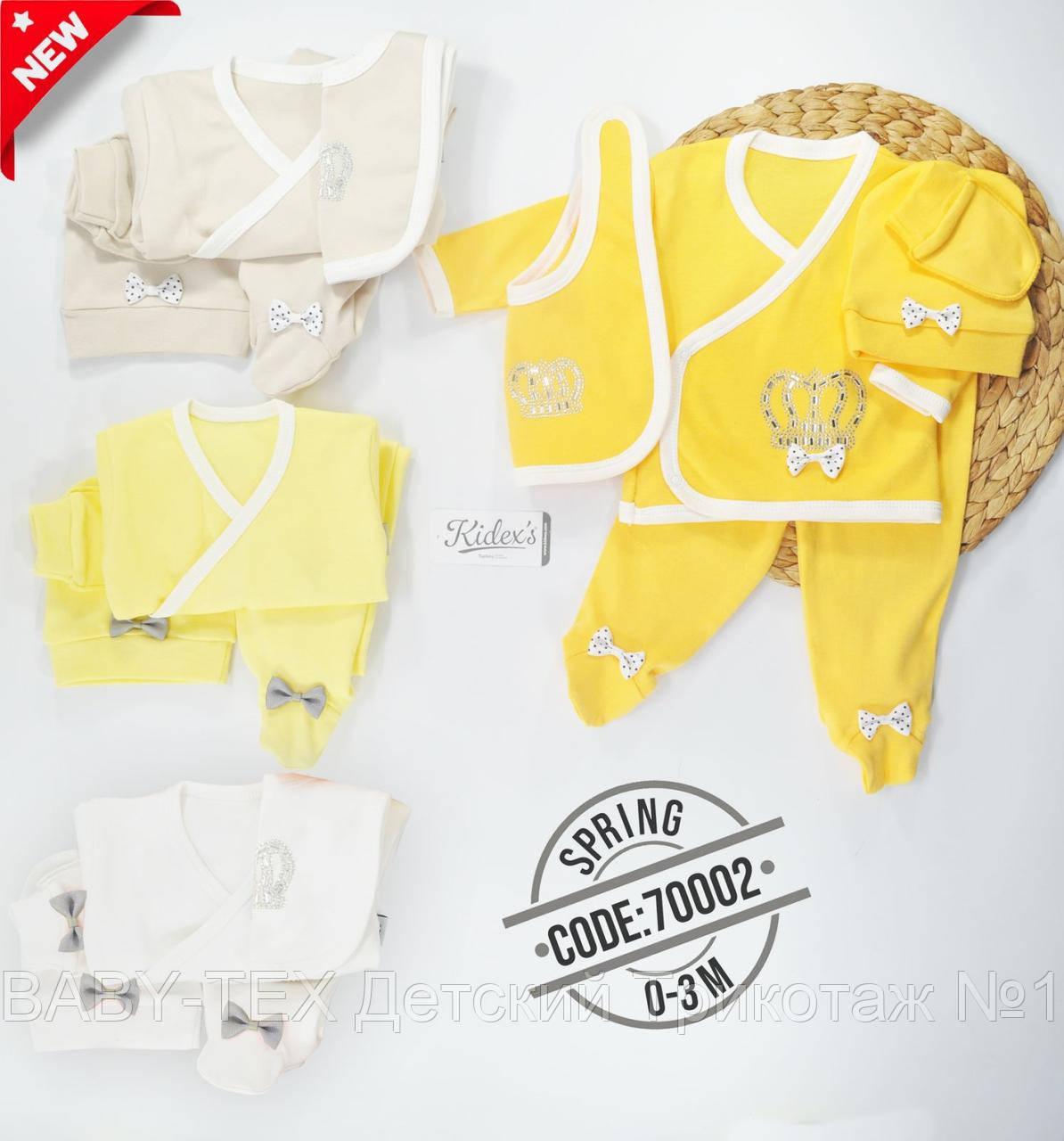 Человечек с шапочкой и царапками для малышей 0-3 месяцев