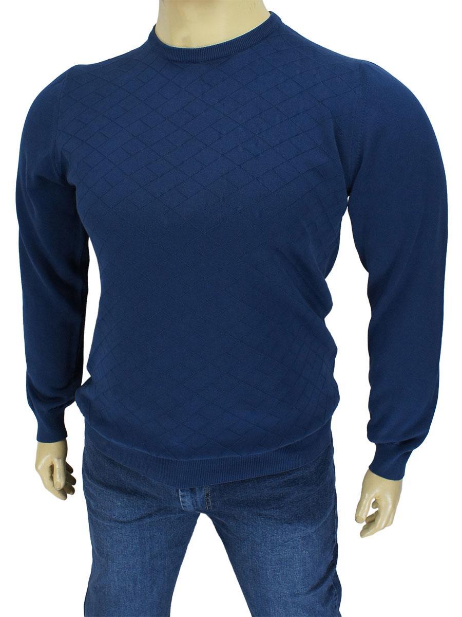 Турецький чоловічий светр темно-синього кольору STROKER`S 2024 C: 26 B великий розмір