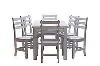 Обеденный комплект стол кухонный обеденный и 6 стульев дубовых 012