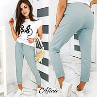 Женский стильный прогулочный костюм: футболка и штаны Батал, фото 1