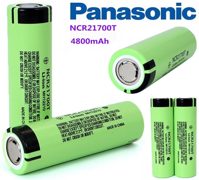 Оригинальный Аккумулятор PANASONIC NCR21700T (MH12210) 21700 4800mAh 10A Li-Ion без эффекта памяти 1000 циклов