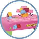 Конструктор с розовым столиком MOLTO-POLESIE, 20 элементов (58010), фото 2
