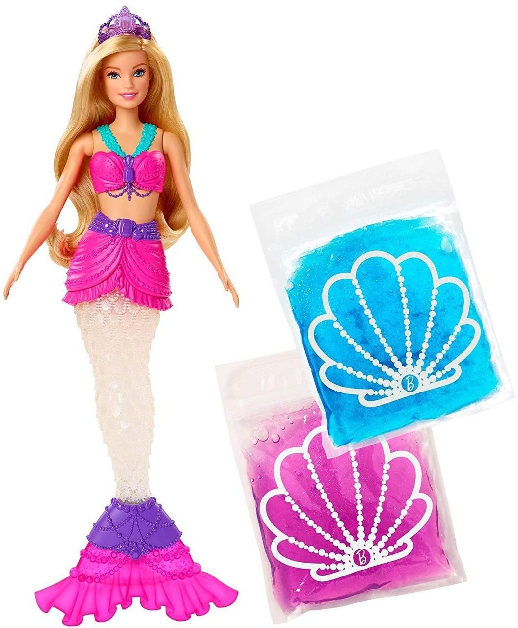 Лялька Барбі Русалка Русалочка зі слаймом Дрімтопія Неймовірні кольори Barbie Dreamtopia Slime Mermaid GKT75