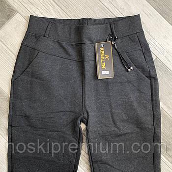 Брюки женские из хлопка с бамбуком Kenalin с карманами, размер 2XL-6XL, серые, 9700-3