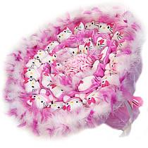 Букет из мягких игрушек Котики 31 в розовом
