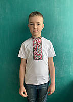 Вышиванка для мальчика Класика красная