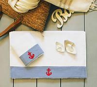Полотенце махровое Barine - Anchor 30*50 голубое