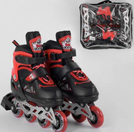 Детские ролики раздвижные 8211-S Best Roller /размер 30-33 красные