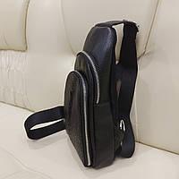 Мужской однолямочный кожаный рюкзак сумка крокодил