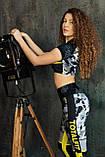 Лосины леггинсы женские спортивные с утяжкой яркие камуфляж тоталфит totalfit lg14-p98, фото 2