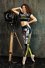 Лосины леггинсы женские спортивные с утяжкой яркие камуфляж тоталфит totalfit lg14-p98