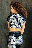 Лосины леггинсы женские спортивные с утяжкой яркие камуфляж тоталфит totalfit lg14-p98, фото 4