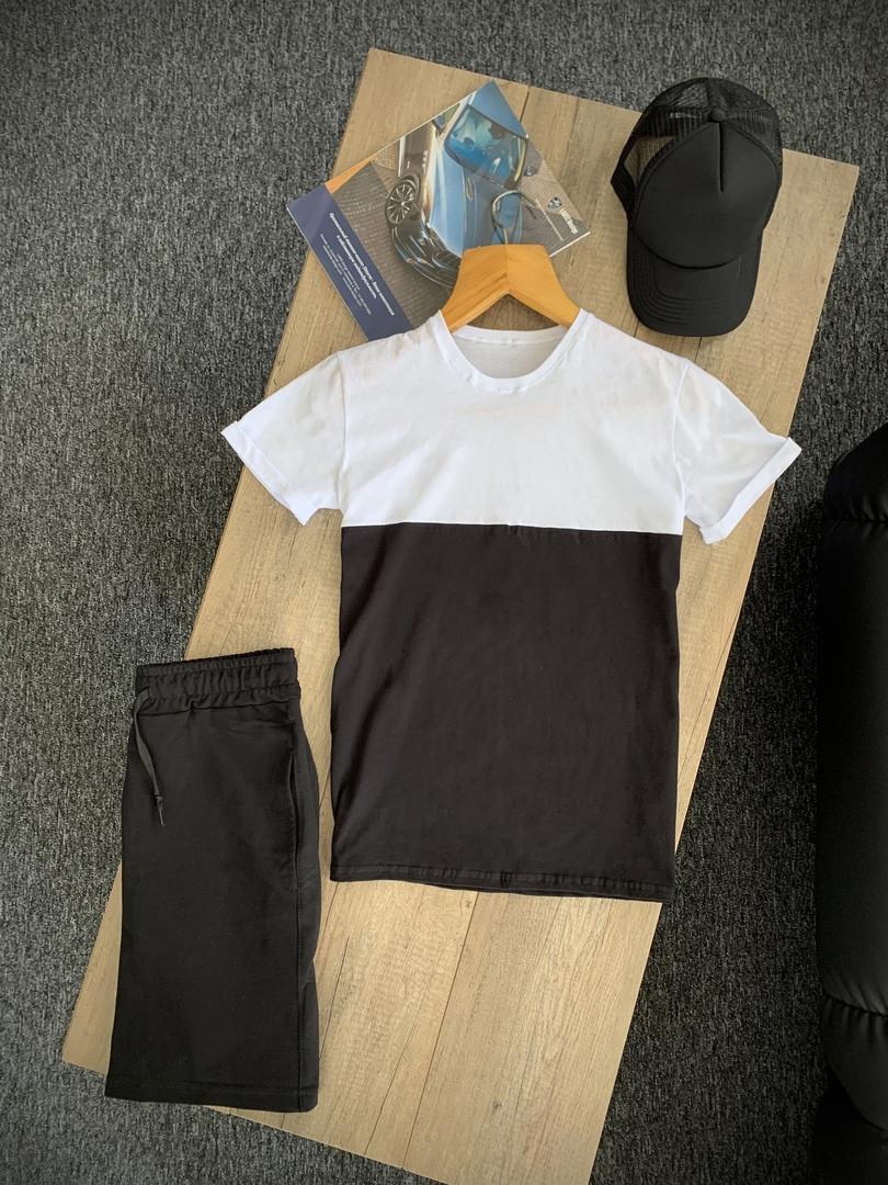 Чоловічий річний комплект футболка шорти, кепка, літній чоловічий спортивний костюм, комплект чоловічий повсякденний