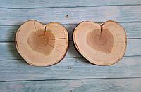 Набор декоративных шлифованных спилов дерева в виде сердец  d 15-17 см. Вишня