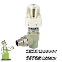 Кран радиаторный с термоголовкой угловой