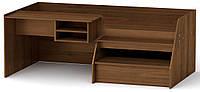 Кровать Универсал-3 орех экко Компанит (194,2х72х106,6 см)