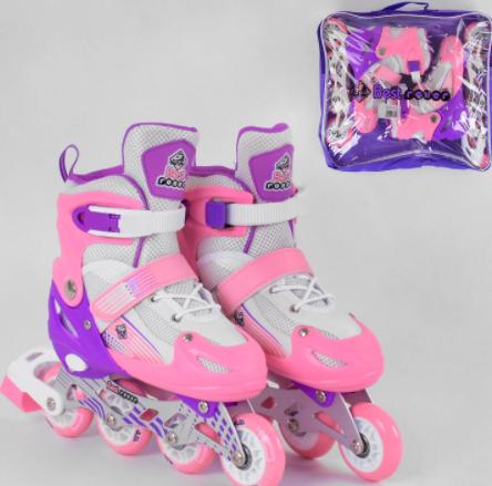 Дитячі ролики розсувні 30044-S Best Roller /розмір 30-33 рожеві