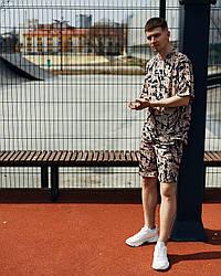 Саммер Мужской спортивный костюм/комплект мокко лето/весна.  Футболка+шорты Турция