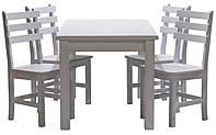 Обеденный комплект стол кухонный обеденный и 4 стульев дубовых 011