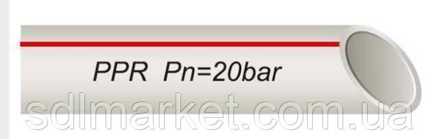 Труба VSplast PPR-AL-PIPE ф32 GERMANY STD з алюмінієвою фольгою(червона упаковка)
