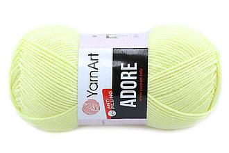 YarnArt Adore, Бледно-желтый №356