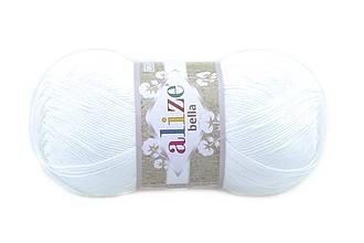 Alize Bella 100, Белый №55