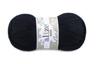 Alize Bella 100, Черный №60