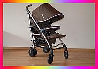 Детская прогулочная коляска-трость Carrello Arena CRL-8504 Gold Brown на алюминиевой раме в льне коричневая