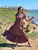 Р. 42-48 Жіноча літнє плаття максі з жатого бавовни, фото 2